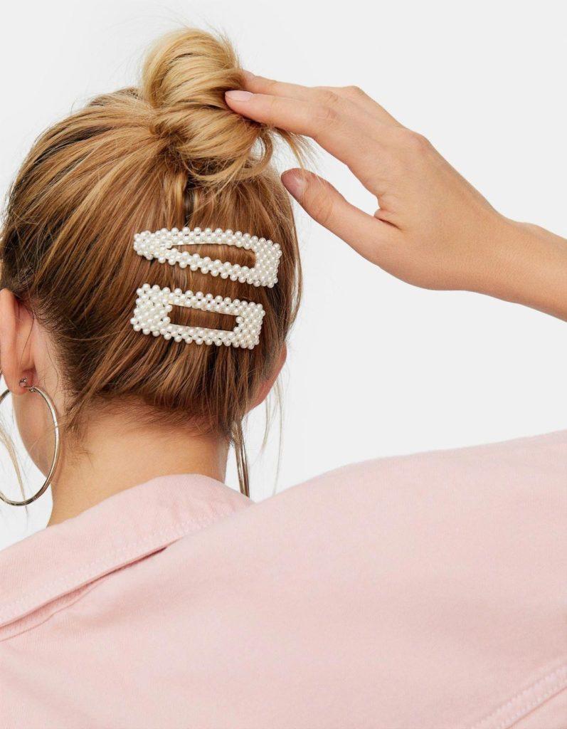 жемчужная заколка для волос