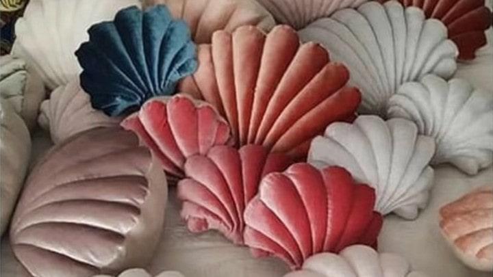 Подушка-ракушка своими руками