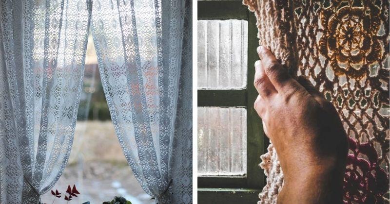 Вязаное изящество: украсьте дом рукодельными вязаными шторами
