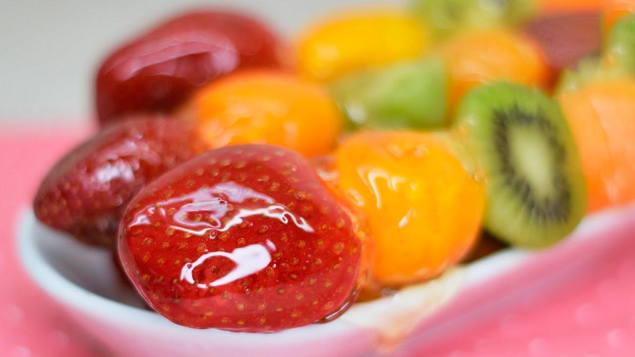 Старинный бабушкин рецепт: стеклянные фрукты и ягоды