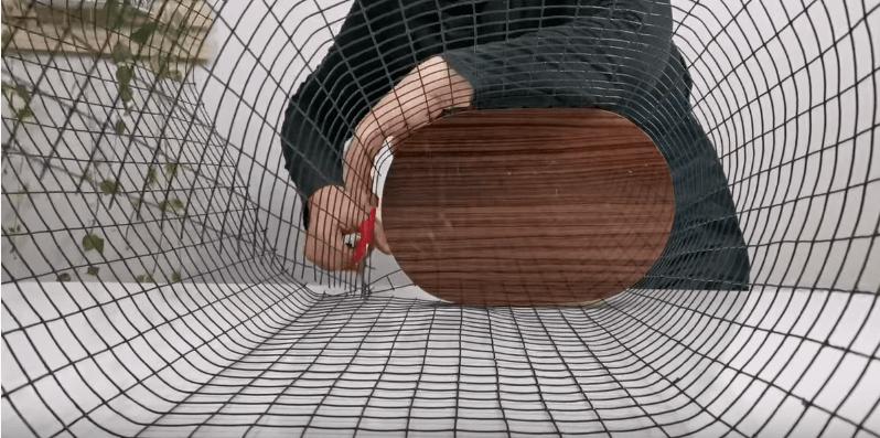 Стильная идея для хранения из остатков строительных материалов